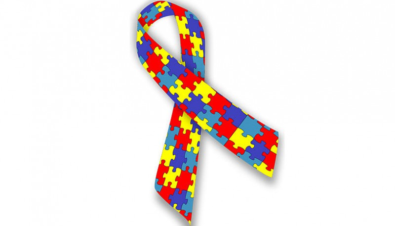 The puzzle ribbon is an often used symbol for the autism spectrum, as it represe