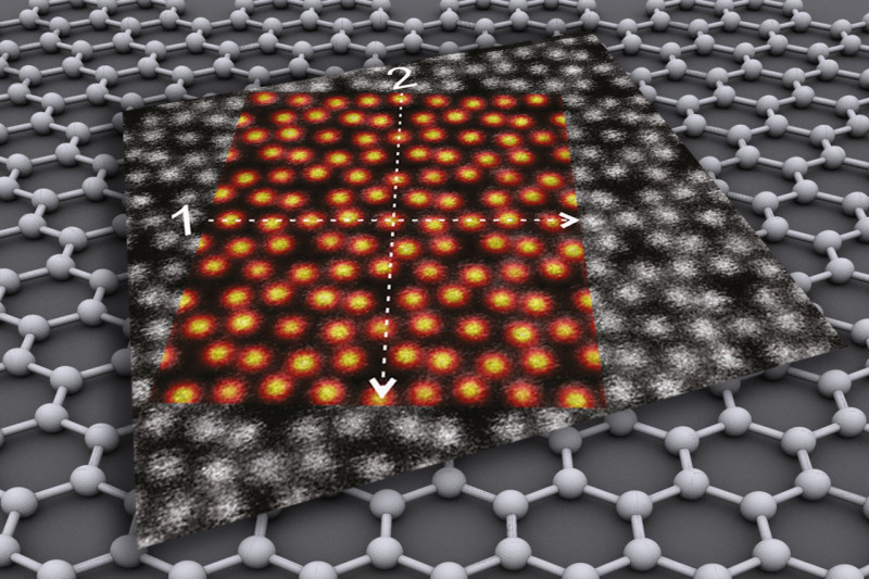 1/2 images   Indium oxide on a graphene layer